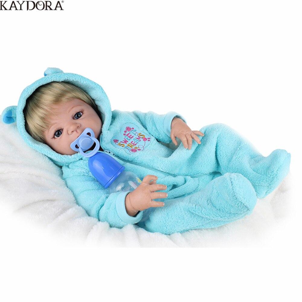 KAYDORA 55 cm Silicone souple Reborn poupées bébé réaliste poupée Reborn 22 pouces plein vinyle Boneca BeBe Reborn poupée pour les filles