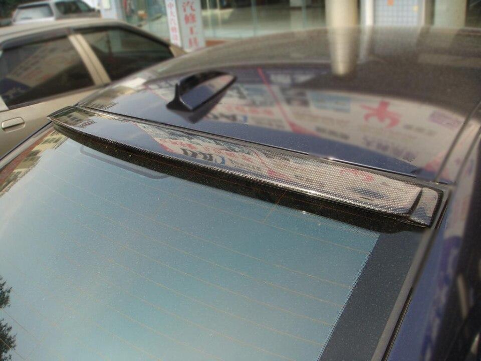 Авто-Стайлинг углеродного волокна автомобиля задний спойлер на крыше окна губы крыло для BMW 3 серии E90 2005-2008