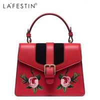 LA FESTIN Women Embroidery Leather Handbags Mini Sweet Ladies Single Crossbody Bags Female Bags High Quality