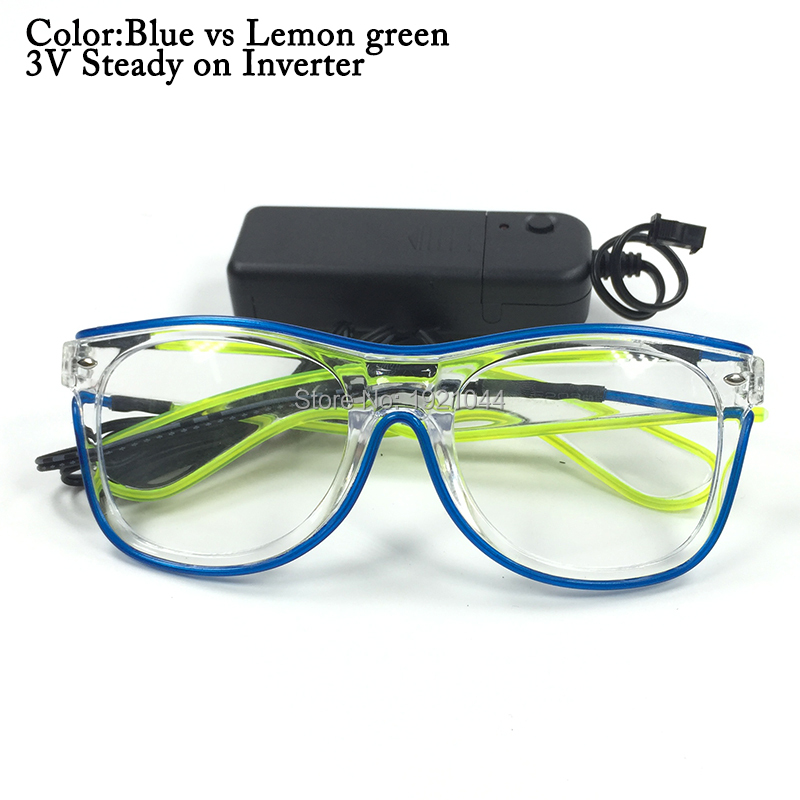 Lighting Glasses El Wire Neon LED Light Up Glasses For Party Favors Wholesale 50pcs Glowing Party Decoration