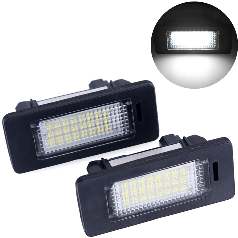 2pcs car led license plate light 12V White 6000k led license plate lamp For bmw e60 E82 E90 E92 E93 M3 E39 E60 E39 E60 2pcs lot 24 smd car led license plate light lamp error free canbus function white 6000k for bmw e39 e60 e61 e70 e82 e90 e92