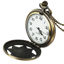 цены на Roman numeral scale rock the pocket watch analog bronze chain pendant necklace women crime watch fashion gift  в интернет-магазинах