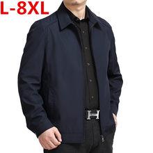 Große größe 8XL 7XL 6XL 5XL Atmungsaktive Herren Jacken Casual gemütliche  Männliche Jacke Umlegekragen Feste Frühjahr Und Herbst. f46c0f4c93