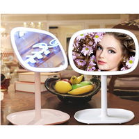 2pc 360 Degree Rotation Decorative mirror 47 Makeup Mirror With LED Light Professional Mirror Beauty Adjustable Countertop