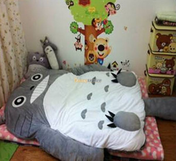 Fancytrader 200cm X 160cm Huge Giant Totoro Bed Carpet Tatami Mattess Sofa, 2 Models, FT50325  (6)