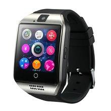 Neueste Android Uhr Q18 Passometer smart uhr 350 MHZ MTK 6260A mit Touchscreen kamera TF karte Bluetooth smartwatch Telefon