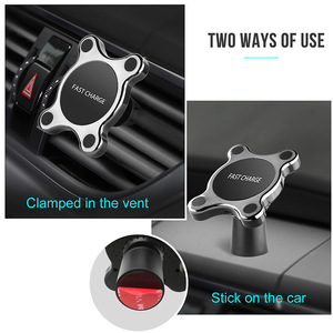 Image 5 - QI Wireless Car Charger Magnetic Quick Phone Mount Ultra Fast Qi Charging Pad Air Vent Mount  Charging Cradle For iPhone Samsung