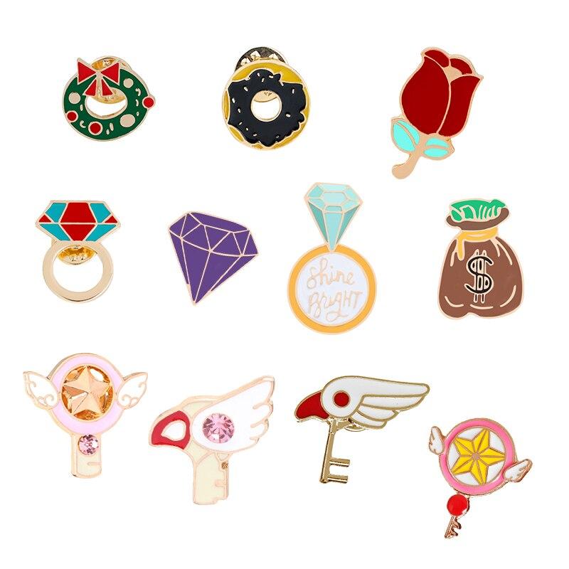 Shine Bright Ring Enamel Pin Badge Brooch Lapel Pin