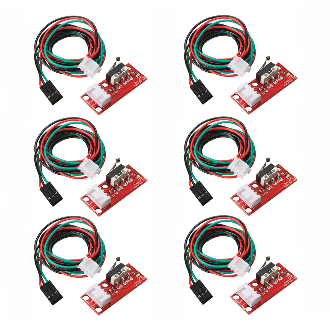 6pcs Endstop Limit Mechanical End Stop Switch W/ Cable for CNC 3D Printer RAMPS limit switch with wheel door stop switch