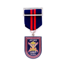 metal Medal custom cheap hard enamel medals hot sales made military  medal with ribbons pin