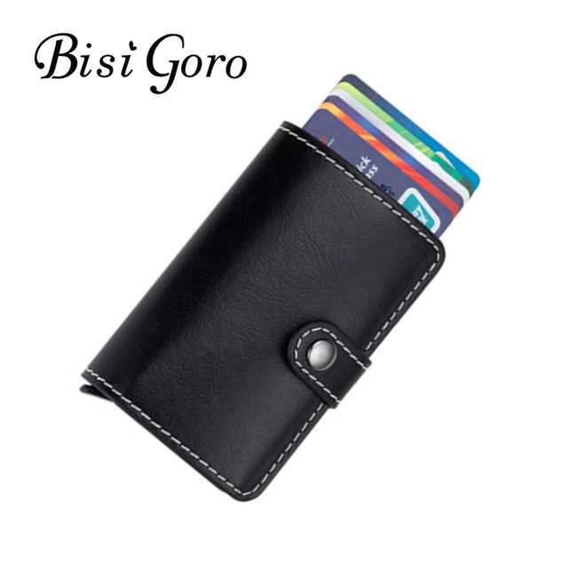 Bisi goro 2018 women mens pu leather credit card holder cases card bisi goro 2018 women mens pu leather credit card holder cases card holder wallet business card reheart Image collections