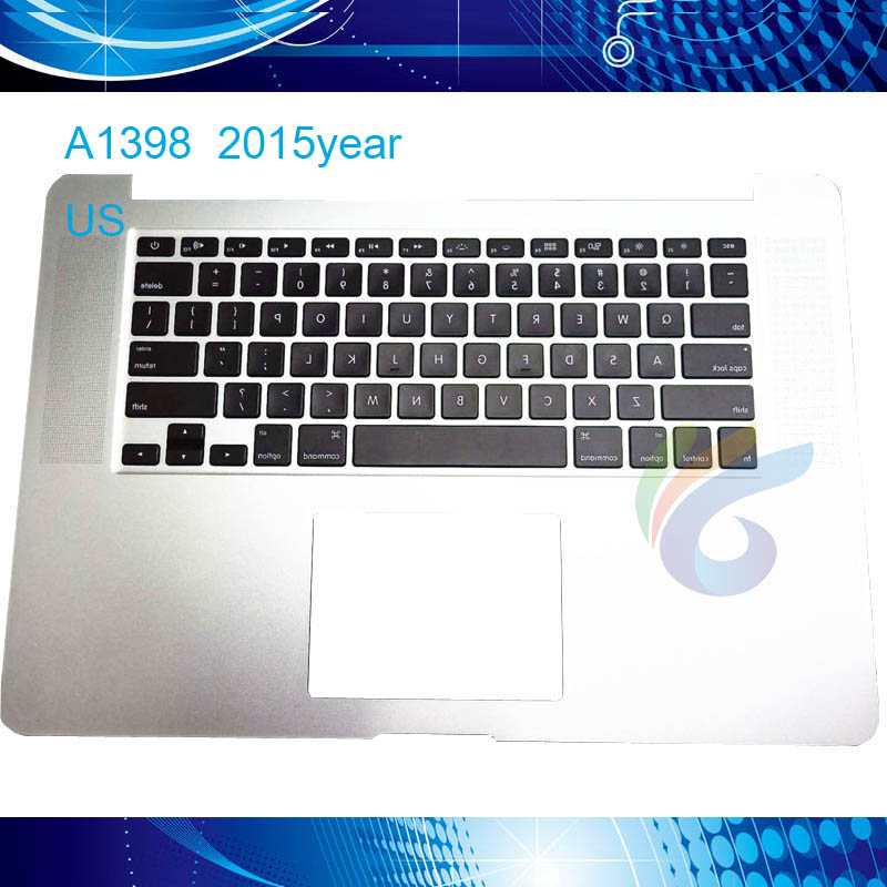A1398 Top case cover assembly for macbook pro retina 15 Upper 2015 year US topcase keyboard