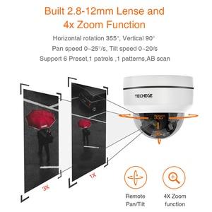 Image 3 - تيشيج HD 2MP PTZ IP CCTV كاميرا الأمن POE 48 فولت عموم صغير/إمالة/التكبير 4X زووم بصري سرعة قبة كاميرا متحركة Onvif RTSP