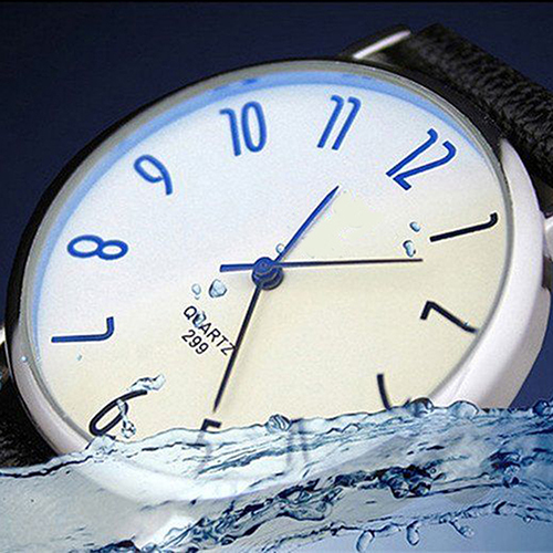 Men's Women's Faux Leather Alloy Military Sport Analog Quartz Wrist Watch