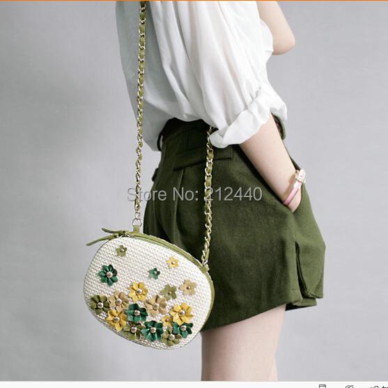 Das senhoras das mulheres do sexo feminino pequeno mini curto flor corpo cruz marca étnico bolsa de palha bolsa de praia sacos de ombro designer de bolsa de praia 45