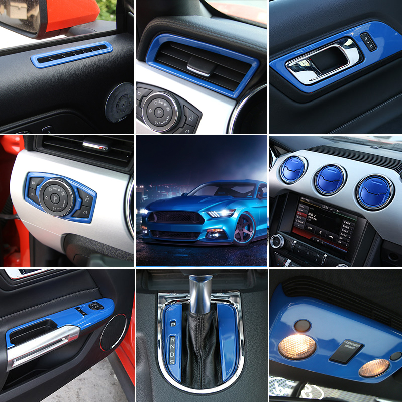 For Left Hand Drive Only! For Ford Mustang 2015 2016 2017 Interior Accessories Whole Kit Decoration Cover Trim 35pcs Car Styling