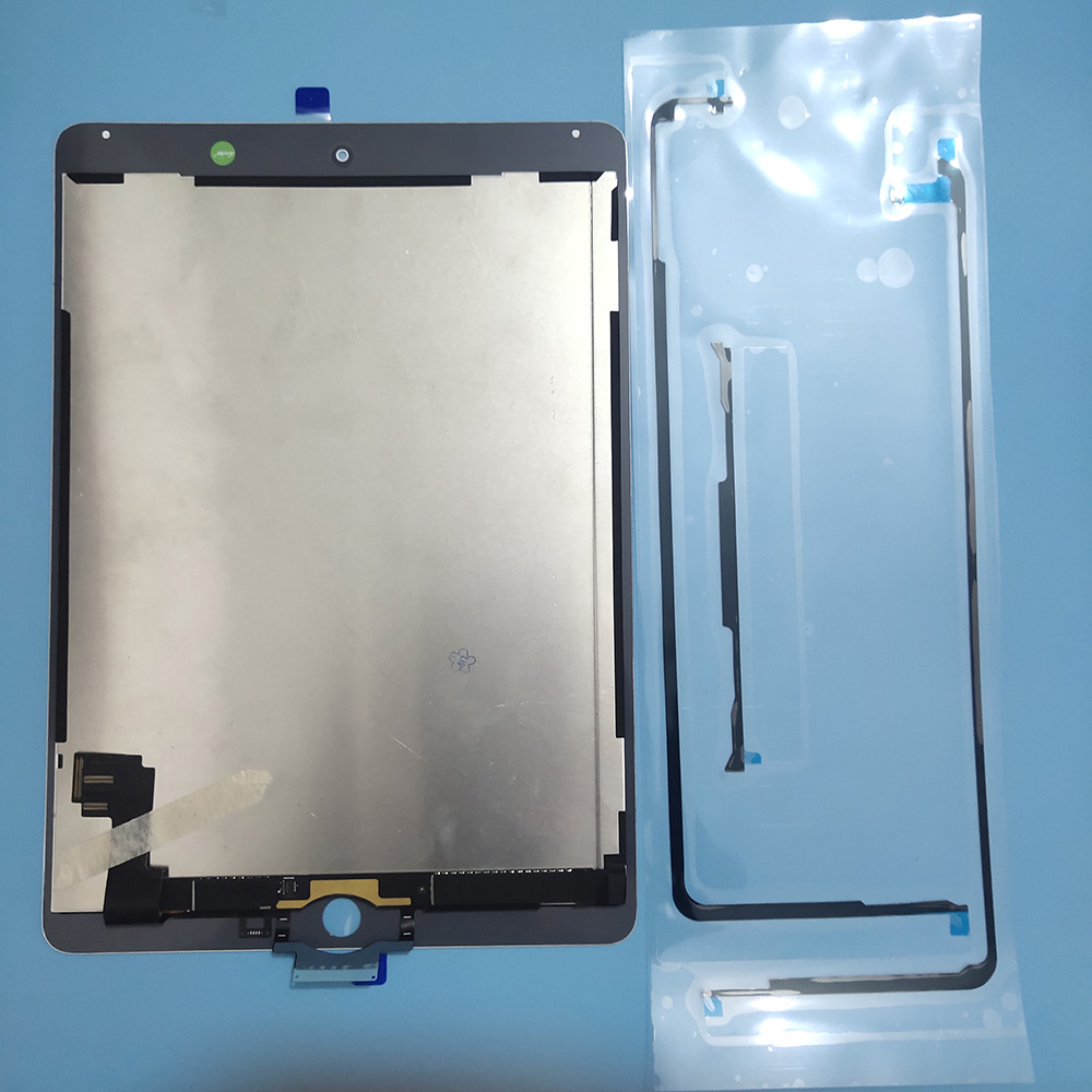 100% Teste 2 6 AAA + Para Apple iPad de Ar 9.7 ''Toque Digitador Da Tela + Conjunto da tela Lcd Para iPad Ar 2 A1567 A1566 Painéis LCD