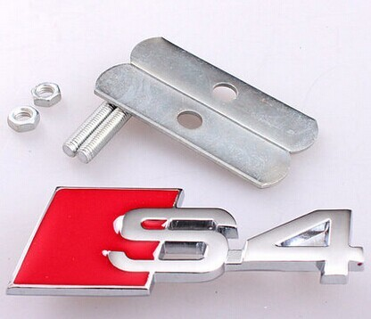 BBQ@FUKA 20Pcs Auto Car Metal Hood S-line Sline S4 Front Grille Grill Badge Emblem Fit for Audi A4