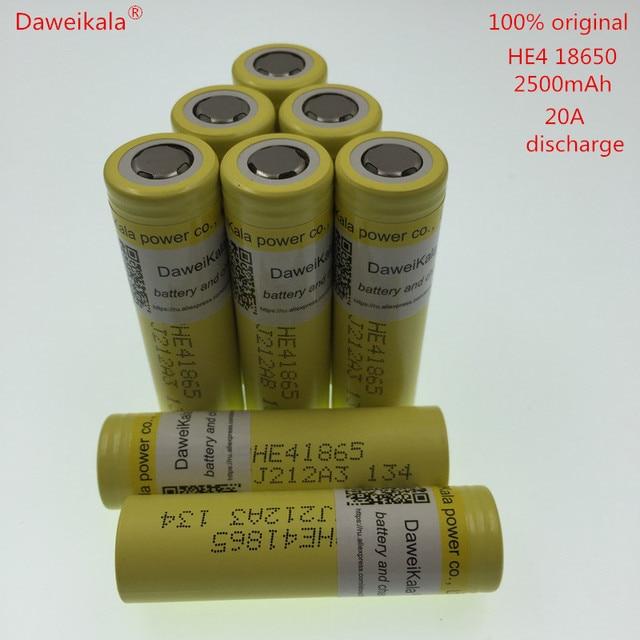 DaweiKala 100% Original  3.6V Battery 2500mAh 20A 35A high drain DB HE2 HE4 18650 battery cigarette power tools
