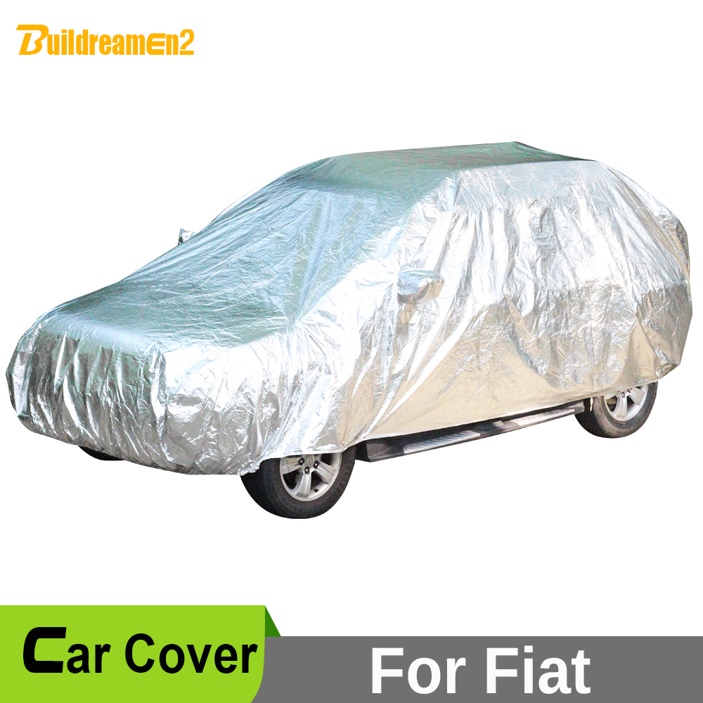 Buildreamen2 Waterproof Car Cover Anti-UV Sun Snow Hail Rain Dust Protection Cover For Fiat Sedici Multipla Bravo Croma Freemont buildreamen2 car cover waterproof suv anti uv sun shield snow hail rain dust protective cover for gmc terrain acadia envoy yukon