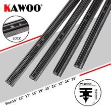 """KAWOO автомобильные щетки стеклоочистителя, вставки из натурального каучука 1"""" 16"""" 1"""" 18"""" 1"""" 20"""" 2"""" 22"""" 2"""" 26"""" 10 мм 4 шт. автомобильные аксессуары"""