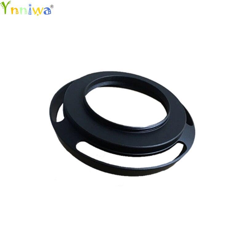 37mm Black Vented Curved Metal Camera Lens Hood For
