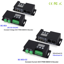 BC-853-CC/BC-853;3CH led RGB light dmx master controller;led 350mA 700mA CC/CV PWM DMX512 Decoder driver for LED Strip