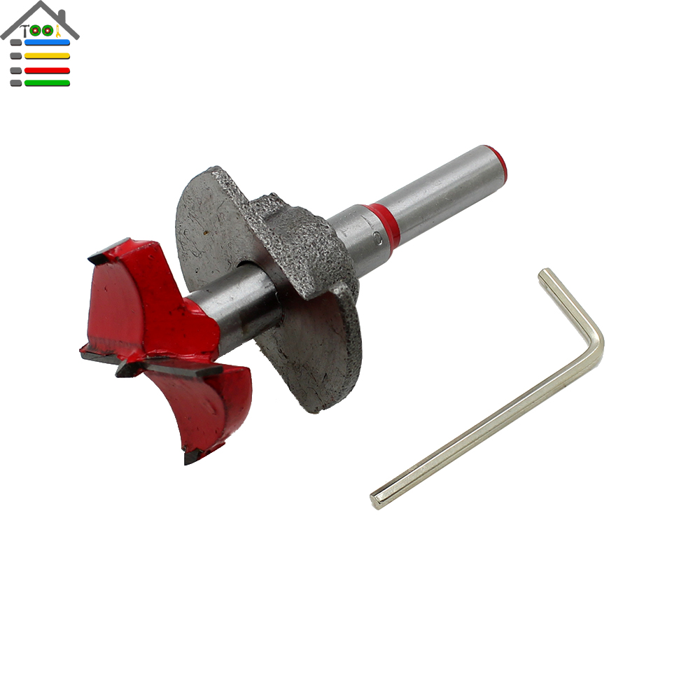 AUTOTOOLHOME 35mm Forstner Auger Drill Bit Hinge Cutter Boring Tipped Wood Drilling Rotary Tool Accessories for Woodworking 38mm 100mm diameter hinge boring bit woodworking silver tone round shank wood drilling forstner carbide tip cutting wood tool