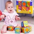 6 шт./лот Многофункциональный Погремушки Блоки для Ребенка Дети Обучения Развития Развивающие Игрушки Mix Матча Кукла Xmas Kid Toy