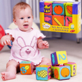6pcs/lot Multifunctional Rattle Blocks for Baby Kids Learning Development Educational Toys Mix Match Doll Xmas Kid Toy