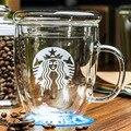 Tazas de café de cristal taza de té taza de la oficina tazas de consumición copas de vidrio transparente de regalo