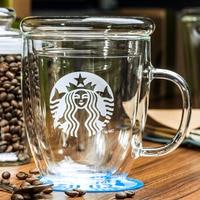 Glass Mugs Coffee Mug Tea Cup Office Drinking Cups Clear Glass Cups Gift