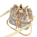 Fashion Women Retro Handbag PU Leather Fashion One Shoulder Cross-body Messenger Bag Vintage Tote Bucket