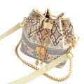 Moda para mujeres Retro bolso de cuero de la PU moda un hombro Cross body Messenger Bag Vintage bolsas de cubo