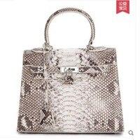 Ouluoer new python haut frauen handtasche dame taschen aus echtem leder handtasche mit einer schulter frauen tasche