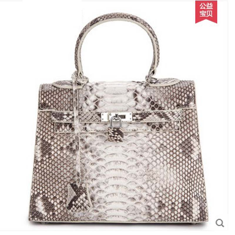 ouluoer new python skin women handbag lady bags genuine leather handbag with a shoulder women bag