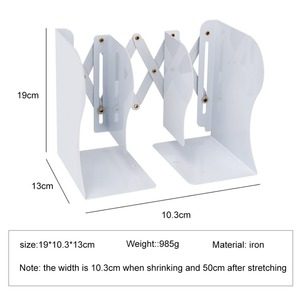 Image 2 - High quality metal Extensible Book Stand Rack Holders Document folding Racks Book organizer for Home School Office Bookcase