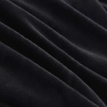 นุ่มสีทึบป้องกันไฟฟ้าสถิตกำมะหยี่สีดำชุดเครื่องนอนC Onductiveเส้นใยหรูหราปกผ้านวมชุดสั้นๆง่ายแฟชั่นของขวัญ