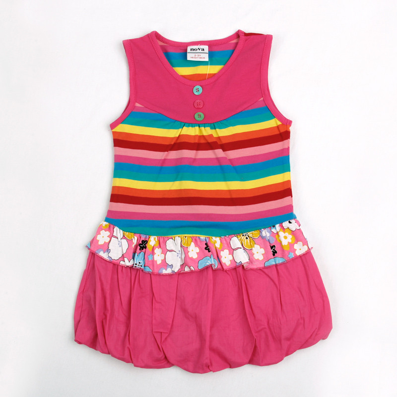 Girls sleeveless dresses Nova children clothes summer cotton girl dress nova kids animal print baby girl frocks clothes kid wear kids clothes 2016 summer style short sleeve printded lotila floral girl dress nova kids baby girl cloting child wear dress