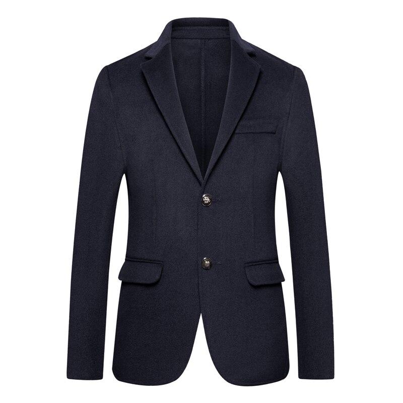 Nouveau 8XL De Laine de manteau hommes automne-hiver de business Casual manteau long Trench hommes Double-face Haute qualité de laine veste Homme costume