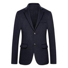 Новый 8XL шерстяное пальто мужские Осень-зима бизнес Повседневное длинный тренчкот мужская двусторонняя высокое качество шерстяной жакет человек костюм