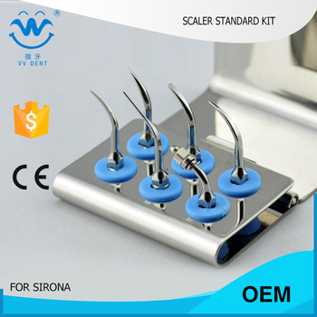 2 PCS SRSKS GERMANY SIRONA Scaler STANDARD Kit FOR LOW  dental cleaning cost AND cheap dental cleaning