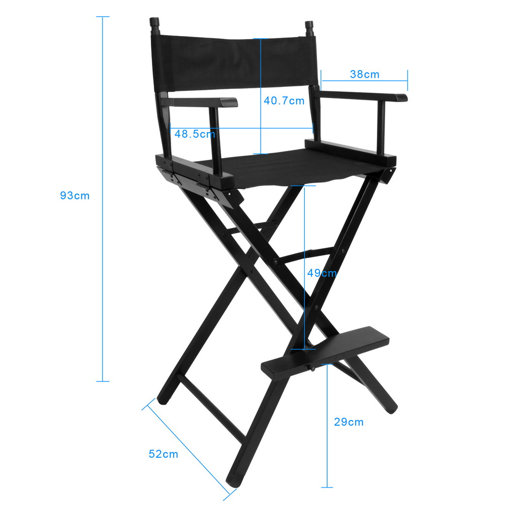 Folding Director Chair Artist Director Chair Foldable Outdoor Furniture Lightweight Photography Accessorice Portable Folding Director Makeup Chair