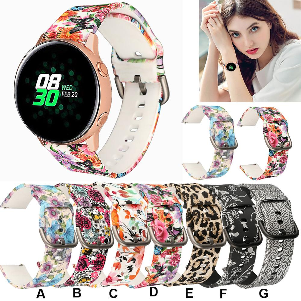 Fashionable And Colorful Replacement Soft Silicone Sport Wrist Band Strap For Samsung Galaxy Watch 42mm/Active 40mm For Gifts