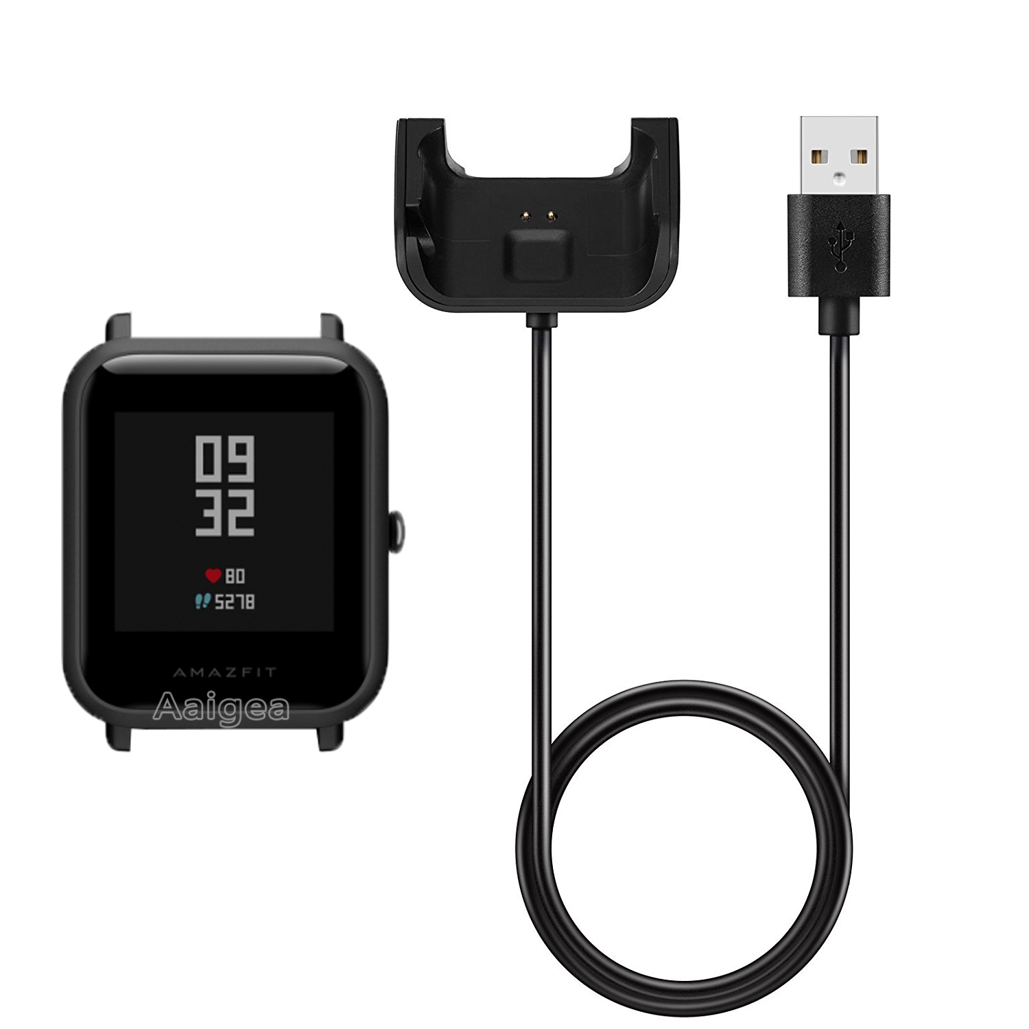 USB Charging Cable Dock for Xiaomi Huami Bip Bit Pace Youth Watch Charger 1M Portable Charger Data Cable Charging Dock Cradle awinner usb charger dock station charging cradle