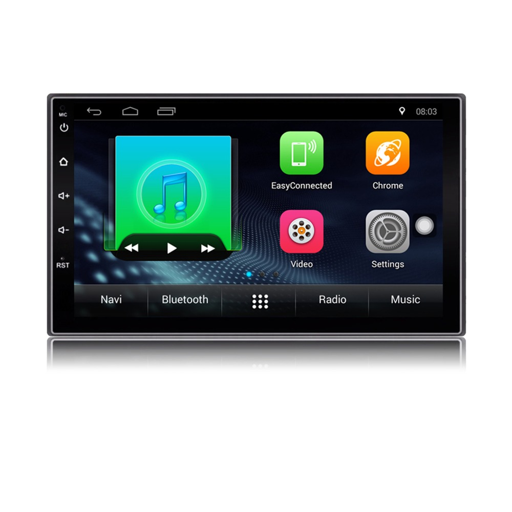 Auto Radio 2 Din Android Car Radio 7 Inch 1024*600 Full HD Touch Screen Car Audio Player GPS Navigation Wifi Bluetooth AM FM ISO kkmoon 2 din hd touch screen car stereo radio player gps navigation multimedia entertainment system wifi bt am fm android 5 1