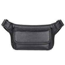 Genuine Leather Men Waist Pack Cowhide Bags Functional Travel Chest Bag Phone 3019A/3019Q