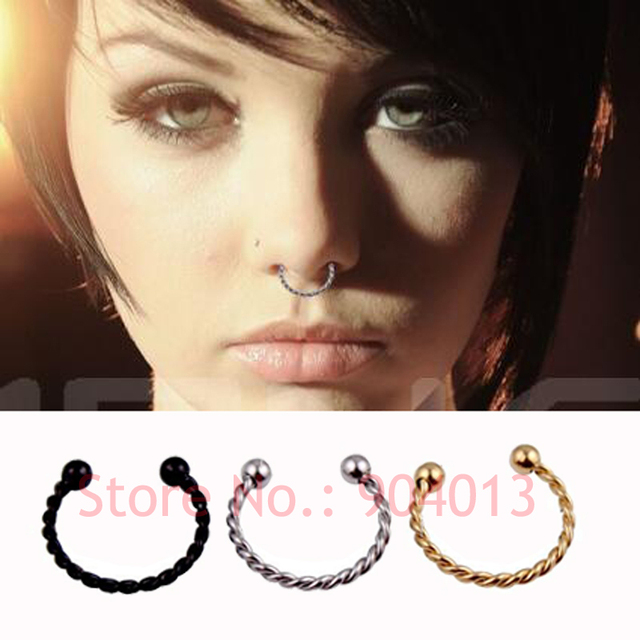 Aliexpress Buy 1 Pieces Gold Silver Black Surgical Steel