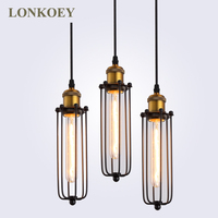 Retro RH Industrial Pendant Lamps For Warehouse Bar A Gladiator Vintage Pendant Lights E27 Bulbs Edison