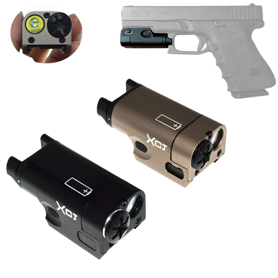 Outdoor High Lumen XC1 Pistol MINI Light Tactical Military Airsoft Hunting Flashlight Used In GLOCK (DE&BK) термоноски guahoo outdoor light 52 0933 cw bk
